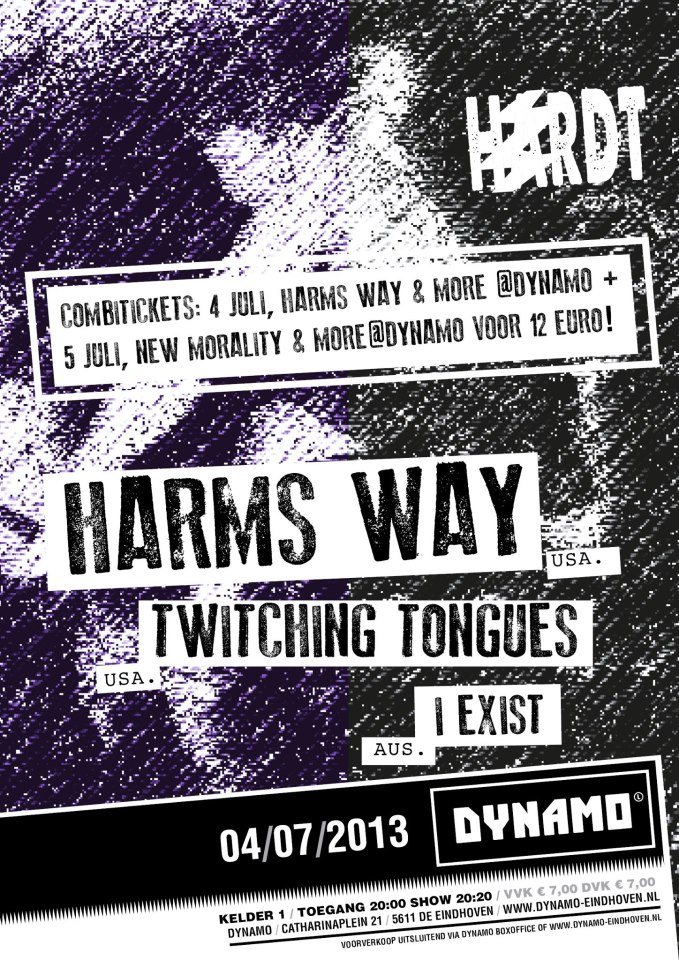 Harm's Way + Twitching Tongues + I Exist @ Dynamo, Eindhoven