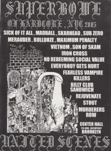 Superbowl of Hardcore 2005 flyer by Chris Benetos (Chris Beee)