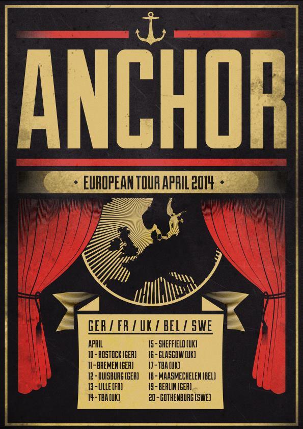 Anchor Europe/UK tour starts next week