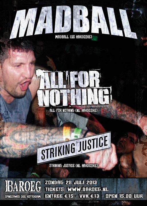Madball + All For Nothing + Striking Justice @ Baroeg, Rotterdam