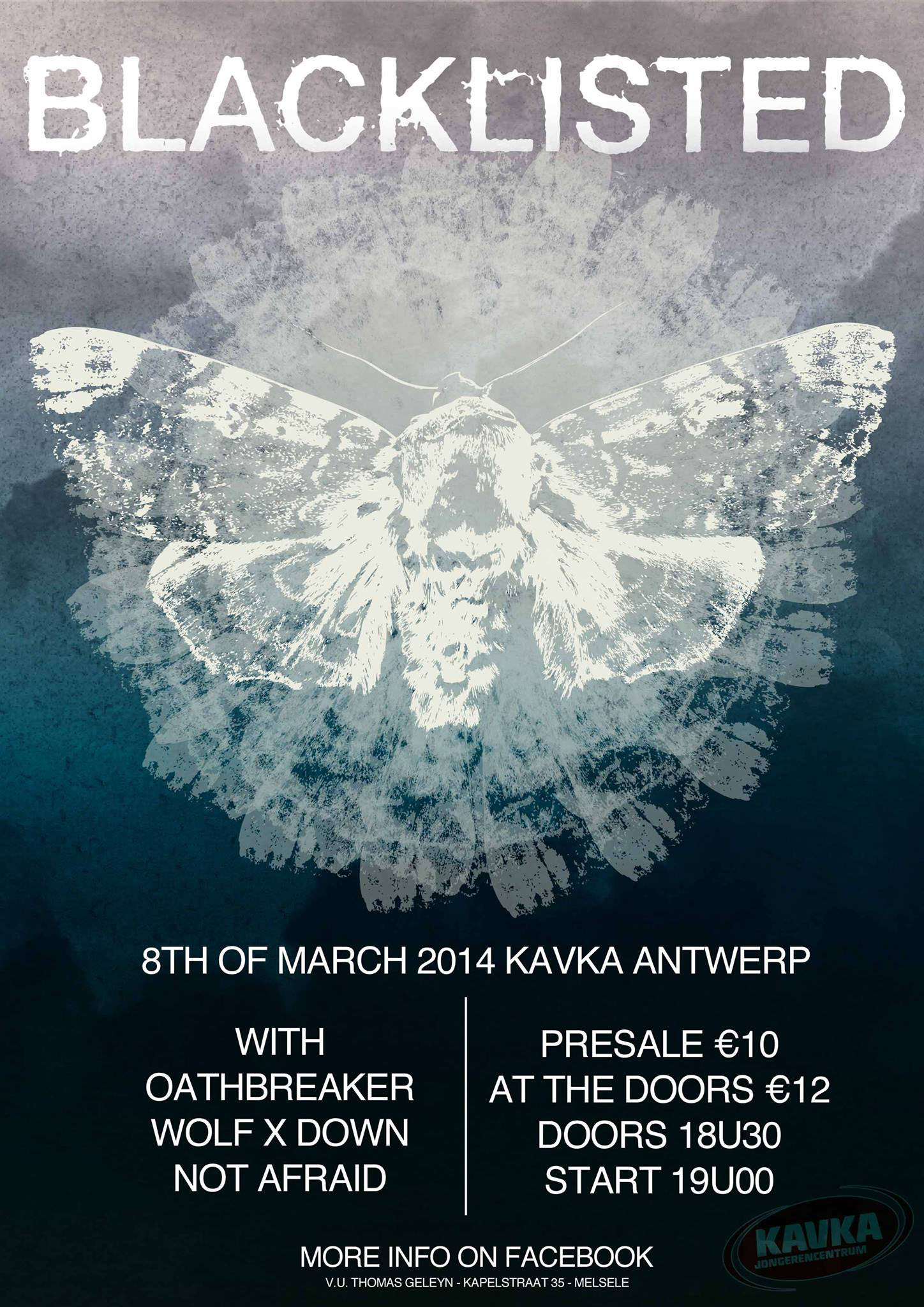 Blacklisted and Cold World coming to Antwerp