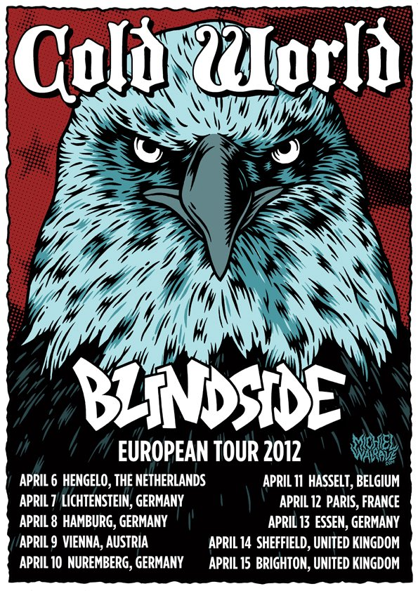 Cold World touring Europe with Blindside