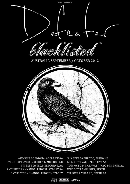 Blacklisted / Defeater announce Australian tour in September & October