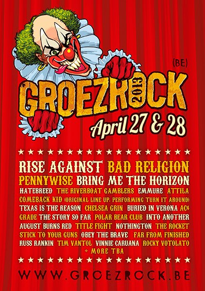 Into Another + Texas Is The Reason confirmed for Groezrock2013