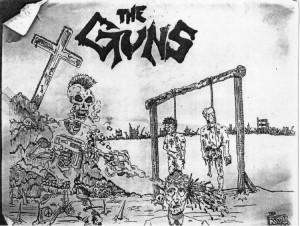 The Guns skeleton sketch