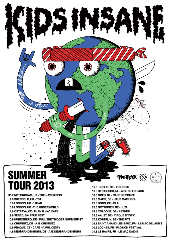Kids Insane Summer Tour 2013