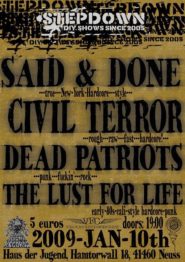 said and done - civil terror neuss