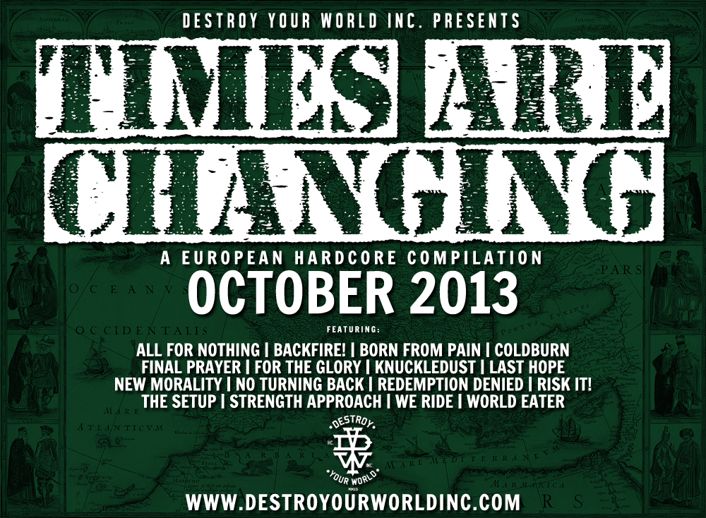 DYW present Times Are Changing – an European hardcore compilation