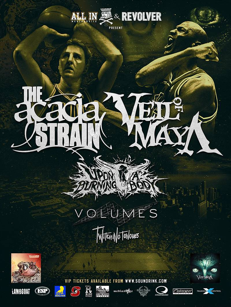 Twitching Tongues touring with The Acacia Strain